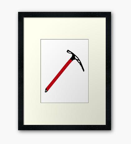Ice climbing pick axe Framed Print
