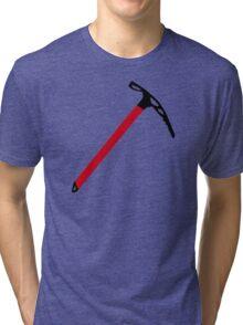Ice climbing pick axe Tri-blend T-Shirt