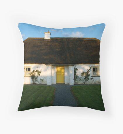 Legan Heritage Cottage, Ireland Throw Pillow