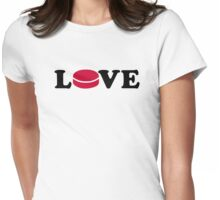 Hockey love Womens Fitted T-Shirt