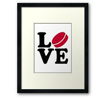 Hockey love Framed Print
