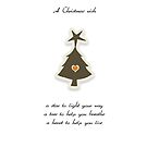 Christmas Card - Retro Wish Tree by © Karin  Taylor