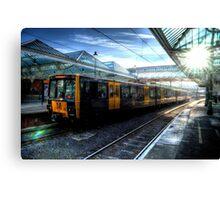 Tyne & Wear Metro At Tynemouth Station Canvas Print
