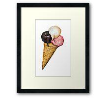 Retro Ice Cream Sign Framed Print