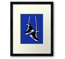 Hockey skates Framed Print