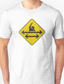 Dangerous Swimming Unisex T-Shirt