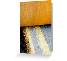 HAMM Roller on Double Yellow Lines Greeting Card
