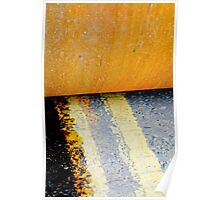HAMM Roller on Double Yellow Lines Poster
