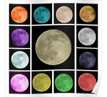 Colors of the Moon Poster
