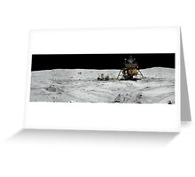 Apollo 17 : Amazing Panoramic Picture Taken on the Moons surface Greeting Card
