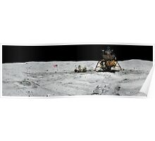 Apollo 17 : Amazing Panoramic Picture Taken on the Moons surface Poster