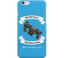 Degroot Demolition 2 (BLU) iPhone Case/Skin