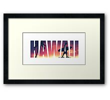 Vintage Filtered Hawaii Postcard Framed Print