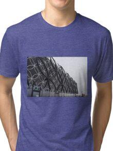 Library Of Birmingham Upper Facade Tri-blend T-Shirt