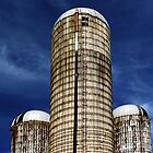 Silos and Sky by cclaude
