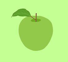 Apple minimalist fruit -- kitchen print by MicrowaveDesign