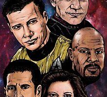 Star Trek Captains by ArtOfOldSchool
