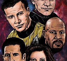Star Trek Captains by ArtOfOldSchool