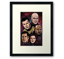 Star Trek Captains Framed Print
