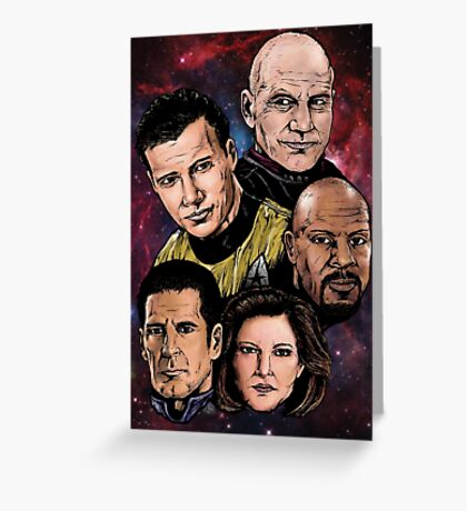 Star Trek Captains Greeting Card