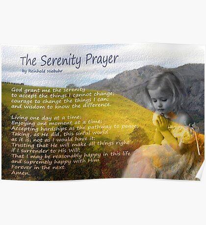 Little girl praying Poster