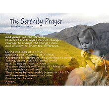 Little girl praying Photographic Print