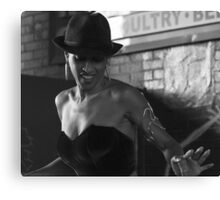 Mistress Didi - Photojournalism Portrait in Black and White Canvas Print