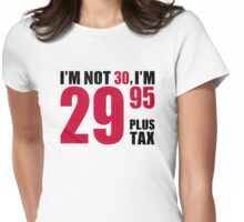I'm not 30 years birthday Womens Fitted T-Shirt