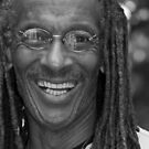 Smile - Portrait in Black and White by Judith Oppenheimer
