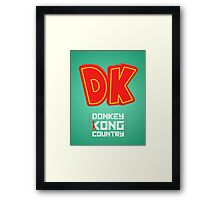 Donkey Kong Country glow print Framed Print