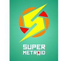 Super Metroid glow print Photographic Print