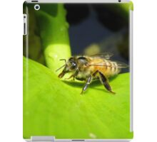 Portfolio image, worker bee drinking water from a leaf. iPad Case/Skin