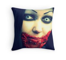 Look into my eyes, tell me what you see Throw Pillow