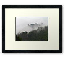 Foggy Mountains Framed Print