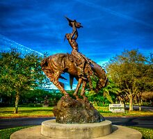Native American on a Horse Statue by -LGM-