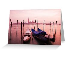 Venetian sunset Greeting Card