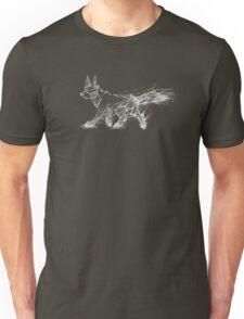 White Melting Dog Unisex T-Shirt