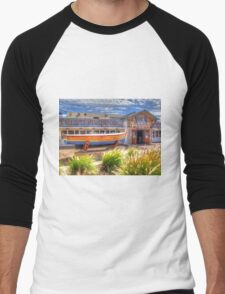 Joe`s Fish Shack - HDR - Fremantle WA Men's Baseball ¾ T-Shirt