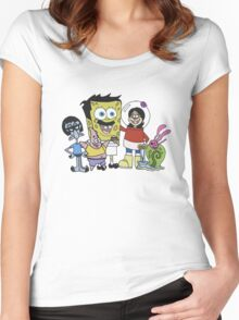 Sponge Bob's Burgers Women's Fitted Scoop T-Shirt