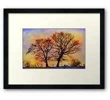 Dancing Trees in Colour Framed Print