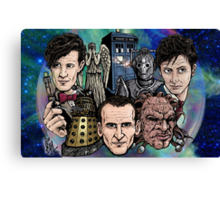 Faces Of Dr. Who Canvas Print