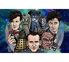 Faces Of Dr. Who Photographic Print