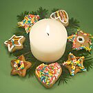 Candle and Christmas Cookies by timscottrom