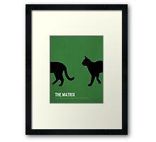 The Matrix minimalist print Framed Print