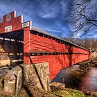 Driebelbis Covered Bridge by Terence Russell