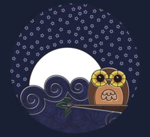 Night Owl - Circle Design by Louise Parton