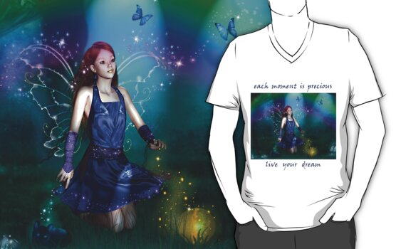 Dawn Mist Fairy Tshirt by angelsoulart