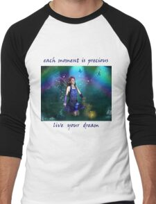 Dawn Mist Fairy Tshirt Men's Baseball ¾ T-Shirt