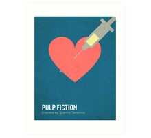 Pulp Fiction minimalist print Art Print