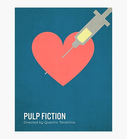Pulp Fiction minimalist print Photographic Print